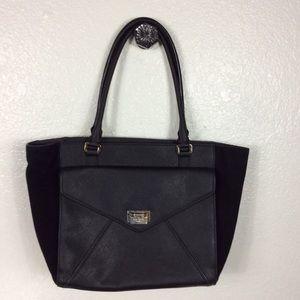 Kate Spade black leather suede purse